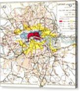 Map Of London, 1881 Acrylic Print