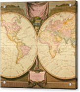 Captain Cook: Map, 1808 Acrylic Print