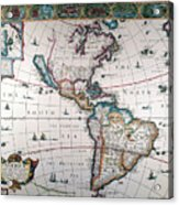 New World Map, 1616 Acrylic Print