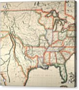 Map: United States, 1820 Acrylic Print