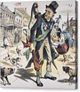 Prohibition  Cartoon, 1889 Acrylic Print