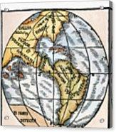 World Map, 1529 Acrylic Print