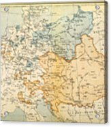 Austrian Empire Map, 1795 Acrylic Print