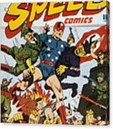 World War II: Comic Book Acrylic Print