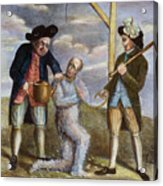 Tarring & Feathering, 1774 Acrylic Print