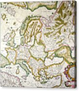Map Of Europe, 1623 Acrylic Print