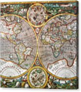 World Map, 1607 Acrylic Print