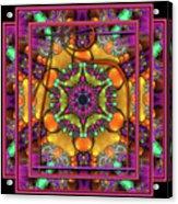 001 - Mandala Acrylic Print by Mimulux patricia no No
