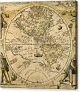 W. Hemisphere Map, 1596 Acrylic Print