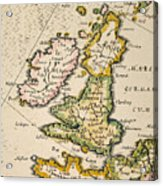 Map Of Great Britain, 1623 Acrylic Print