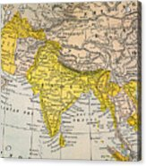 Asia Map, 19th Century Acrylic Print