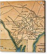 Underground Railroad Map Acrylic Print