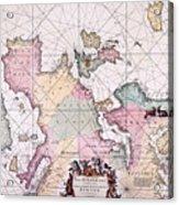 Map: European Coasts, 1715 Acrylic Print