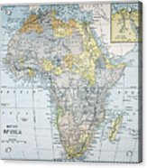 Map: Africa, 19th Century Acrylic Print