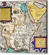 African Map, 1595 Acrylic Print
