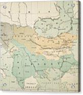 Balkan Map, 1885 Acrylic Print
