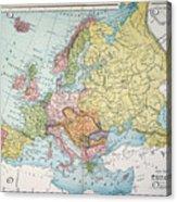Map: Europe, 1885 Acrylic Print