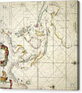 Map: East Indies, 1670 Acrylic Print