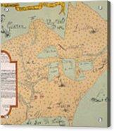 Jolliet: North America 1674 Acrylic Print