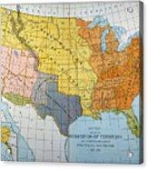 U.s. Map, 1776/1884 Acrylic Print