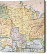 Map: U.s. Expansion, 1905 Acrylic Print
