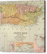 Map: Puerto Rico, 1900 Acrylic Print by Granger
