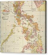 Map: Philippines, 1905 Acrylic Print