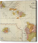 Map: Hawaii, 1905 Acrylic Print