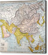 Asia Map Late 19th Century Acrylic Print