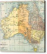 Map: Australia, C1890 Acrylic Print