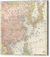 Map: East Asia, 1907 Acrylic Print