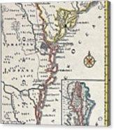 Map: North America, C1700 Acrylic Print