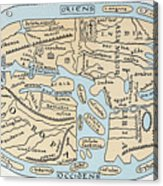 World Map 2nd Century Acrylic Print