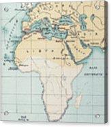Map: Phoenician Empire Acrylic Print
