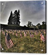 01 Flags For Fallen Soldiers Of Sep 11 Acrylic Print