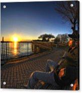 01 Me Sunset 16mar16 Acrylic Print