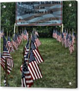 010 Flags For Fallen Soldiers Of Sep 11 Acrylic Print