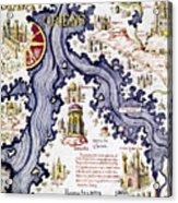 Marco Polo (1254-1324) Acrylic Print