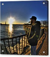 02 Me Sunset 16mar16 Acrylic Print