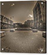 02 Plaza Of Stars Sepia Tone  Acrylic Print