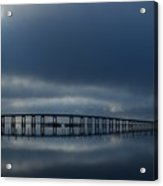 0203 Mirrored Navarre Bridge On Sound Acrylic Print