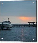 0204 Faint Sunrise On Sound Acrylic Print