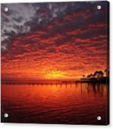 0205 Awesome Sunset Colors On Santa Rosa Sound Acrylic Print