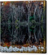 02l Reflections At  Gowen Michigan Acrylic Print