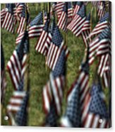 03 Flags For Fallen Soldiers Of Sep 11 Acrylic Print