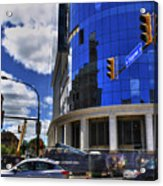 03 W Chipp And Delaware Construction  Acrylic Print