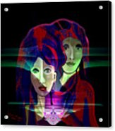 036 Two Faces Of  Night A V Acrylic Print