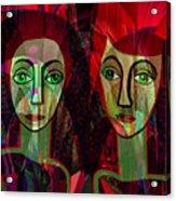 039   Two Pensive Women A Acrylic Print