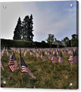 04 Flags For Fallen Soldiers Of Sep 11 Acrylic Print