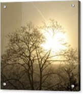 04 Foggy Sunday Sunrise Acrylic Print